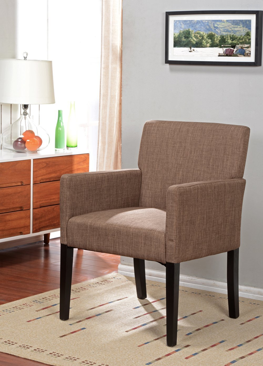 affordable brown accent chair