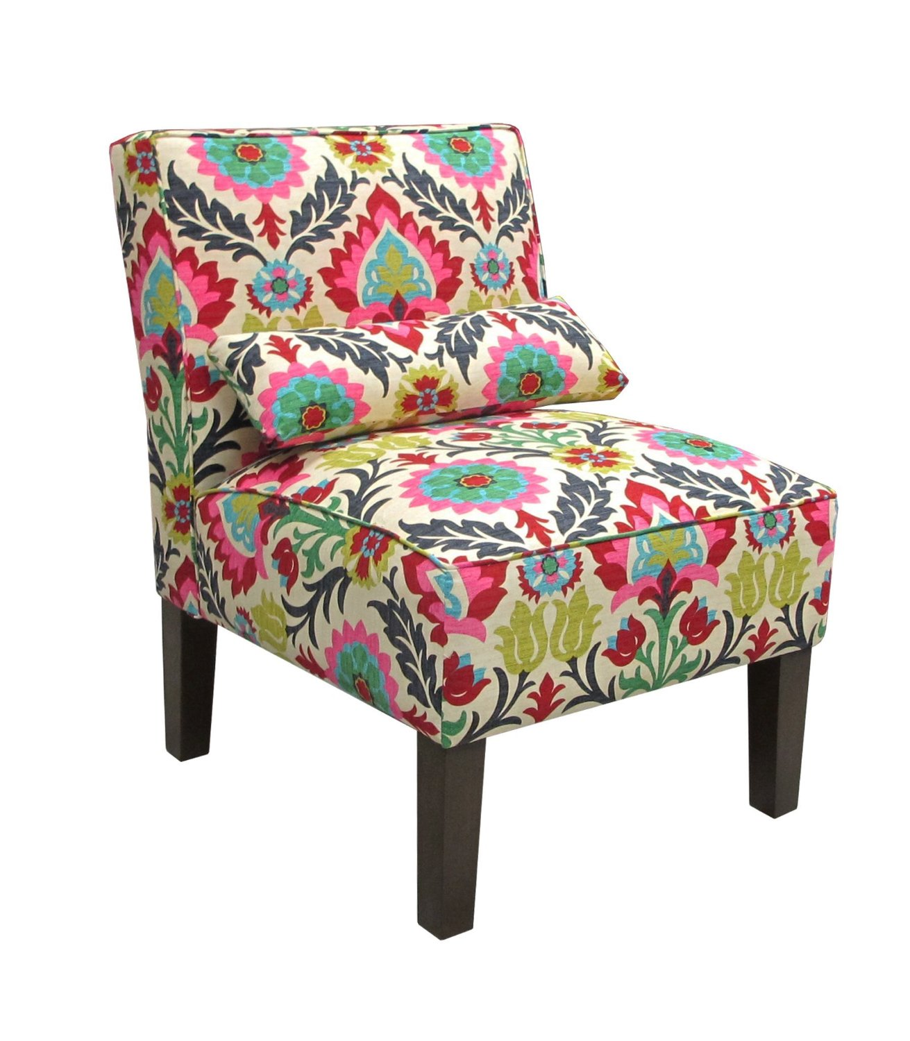 beautiful patterned accent chair