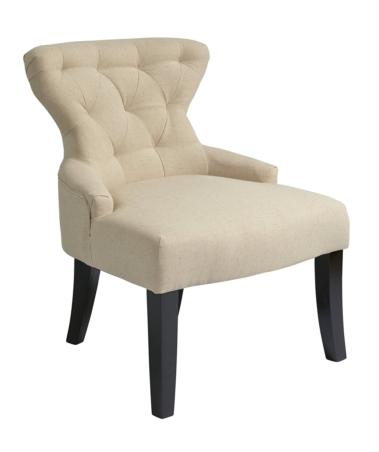 black and white hourglass accent chair