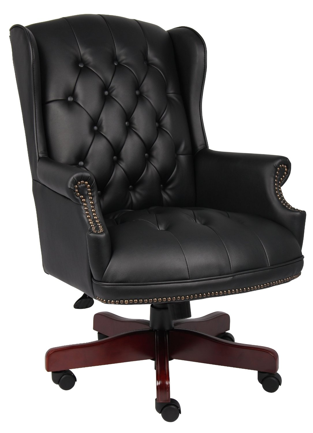 black and white swivel accent chair
