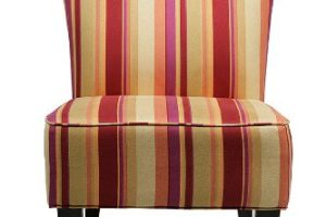 colorful striped accent chair