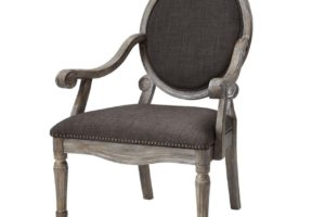 elegant wood accent chair
