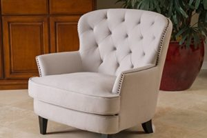 vintage cream upholstered accent chair